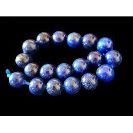 Fil de 19 perles rondes 10mm 10 mm en lapis lazuli lazulis teinté