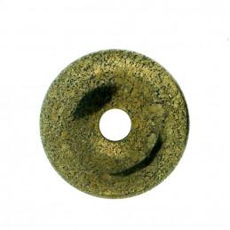Donut pendentif pi chinois en pyrite dorée 30mm 30 mm de diam