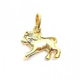 Pendentif Signe Astrologique zodiaque Lion en plaqué or + chaine