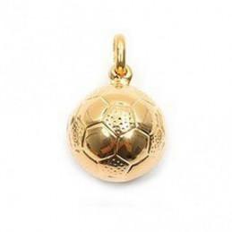 Pendentif Ballon de football en plaqué or + chaine 1,1cm