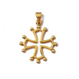 Pendentif Croix Occitane Occitanie ou Zodiacale en plaqué or