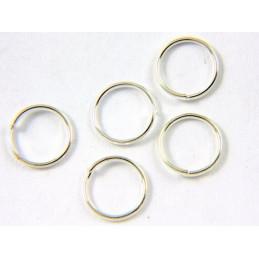 Lot de 50 anneaux brisés argentés 6mm