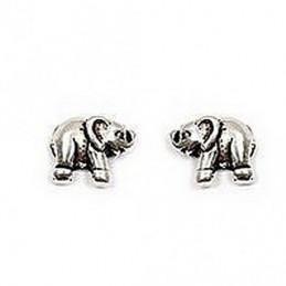 Boucles d'oreilles Eléphant éléphant en argent