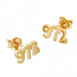 Boucles d'oreilles 972 97-2 97 - 2 Ile de la Martinique en plaqué or