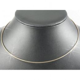 Collier tour de cou rigide en plaqué or 42 cm