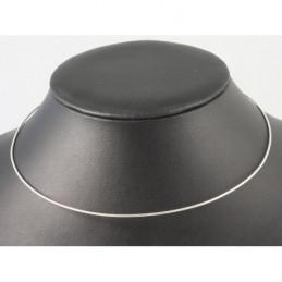 Collier tour de cou rigide en argent 42 cm