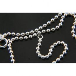 Chaîne chaine bracelet de cheville maille boule en argent 925°/00 - 23 cm