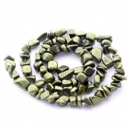 Fil de chips perles en pyrite naturelle - fil de 38cm