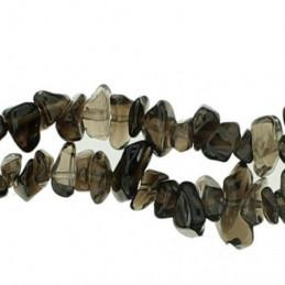 Fil de chips perles en Quartz Fumé - fil de 90cm