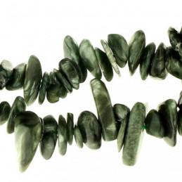 Fil de chips perles en séraphinite - 38cm