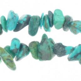 Fil de chips perles en turquoise africaine - fil de 80cm