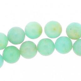 Fil de 58 perles rondes 6mm 6 mm en amazonite verte