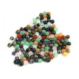 Lot de 200 perles rondes semi précieuses 4mm 4 mm mélange mix