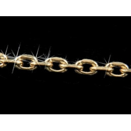 Bracelet Chaine fine maille Forçat en plaqué or 18 cm