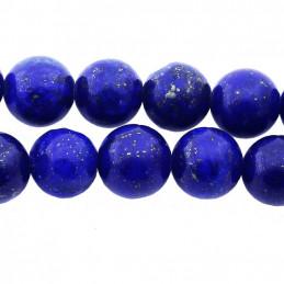 Fil de 45 perles rondes 4mm 4 mm en lapis lazuli lazulis