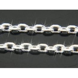 Bracelet Chaine fine maille Forçat en argent 18 cm