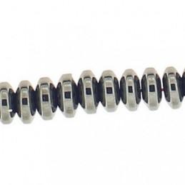 Fil de 140 perles rondelles abacus 6mm en hématite grise non magnétique