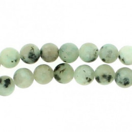 Fil de 58 perles rondes 6mm 6 mm en jaspe sésame lotus