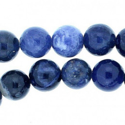 Fil de 45 perles rondes 8mm 8 mm en Sodalite bleue
