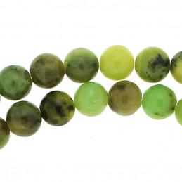 Fil de 60 perles rondes 6mm 6 mm en chrysoprase verte naturelle